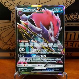 Pokemon Card Zoroark GX from Shining Legends