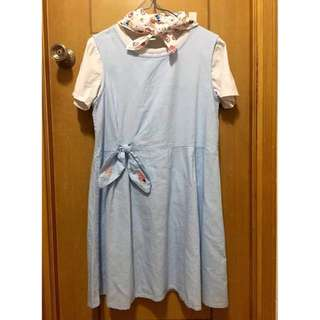 ($200/3)日系淺藍色背心裙