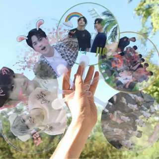 Preorder - WANNA ONE & GOT7 TRANSPARENT HANDFAN EXC.POS