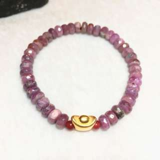 Authentic Natural Ruby with 24K Gold Ingot