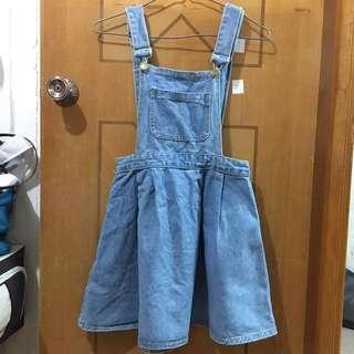 ($50/3件)淺藍牛仔吊帶裙