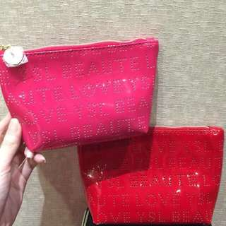 Ysl Pouch Red / Pink