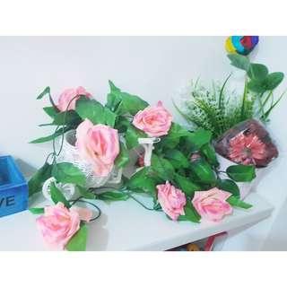 園藝裝飾 房間裝飾 人造花 玫瑰#銅板好物#好物任你換#我的家飾可超取