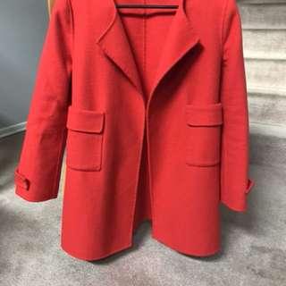 ZARA- Orange Felt material Coat