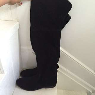 Brand New Suede Knee High Boots