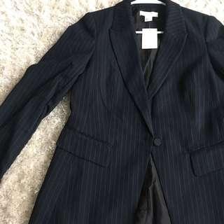 Striped blazer with tags