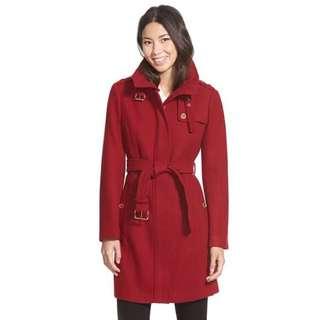 MICHAEL Michael Kors 紅色大外套 長大衣 羊毛外套