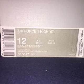 * PRICE DROP*Nike Air Force 1s in black suede
