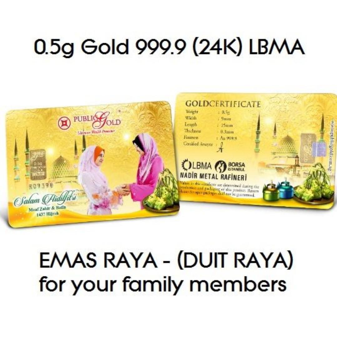 0.5gm Gold Wafer 999.9 24K