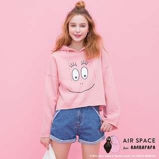 全新air space 泡泡先生粉色連帽上衣