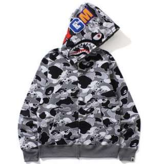 AUTHENTIC BAPE CAMO ZIP HOODIE