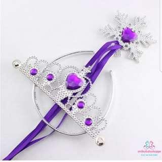 *SALE @ $7.90!*Princess Tiara Crown And Snowflake Wand Birthday Party Supplies Kids Children Girls Costume Purple
