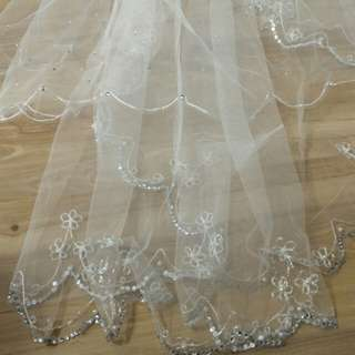 Wedding Veil with crystal