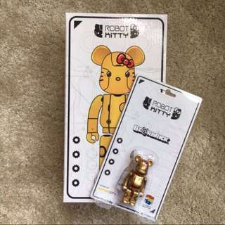Robot Kitty Bearbrick Gold 400% + 100%