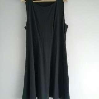 Sleeveless Black Midi A Line Dress Size 18