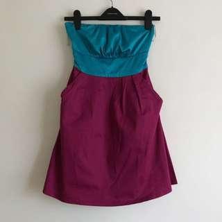Colour Block Tube Dress