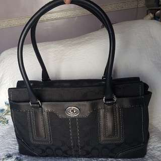 PRICE LOWERED Authentic Black Coach Bag