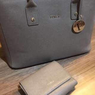 Furla bag and purse set