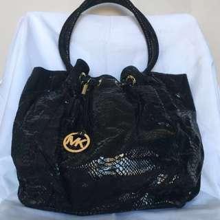 Authentic Michael Kors Black Handbag Gold hardware