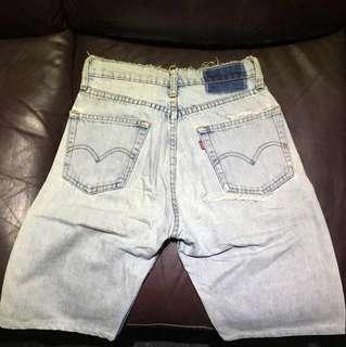 Levis 古著 淺色洗水牛仔短褲 購自日本