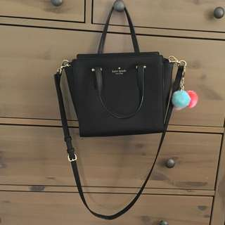 Kate spade cross body black small with keychain