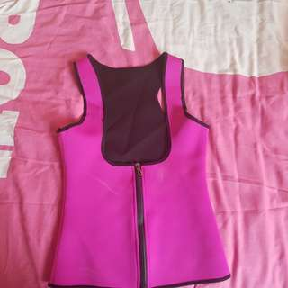 Hot pink sweat vest