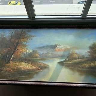 Painting of Lush Greenery