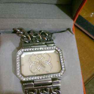 Guess watch wide brand silver