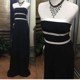 Dress kemben hitam putih