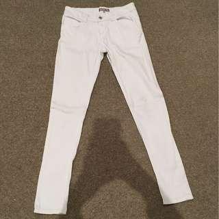 Women's TEMT white jeans size 8