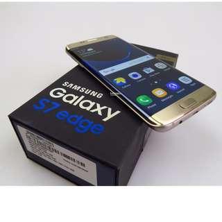 Samsung Galaxy S7 Edge gold platinum 32gb Openline Both sim cards slot / 1yr old