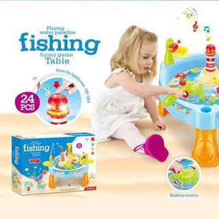 Music Outdoor Water Toys Playset with Electric Rotation Fishing Toy Set
