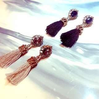Gold Tassel Earrings