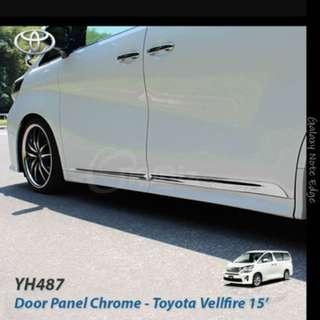 Toyota vellfire door panel chrome