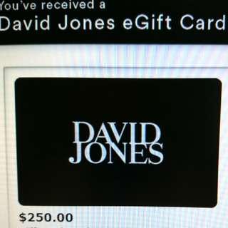 10% off for david jones $250 egiftcard