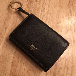 Authentic Fossil mini wallet with key chain loop BNWT