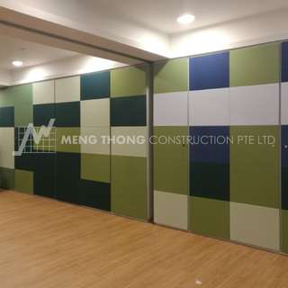 Acoustic wall soundproof fabric system reduces echo for meeting karaoke room