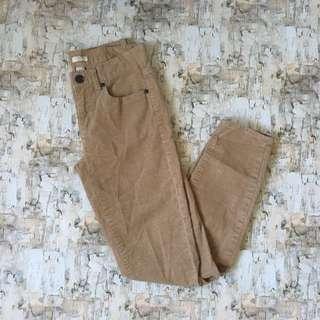 J Crew skinny stretch Corduroy pants tan Size 4