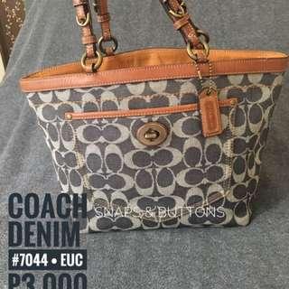 Auth Coach Denim tote