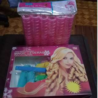 ASSORTED HAIR CURLERS/ROLLERS