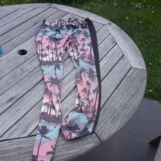 Garage palm tree tights size 12