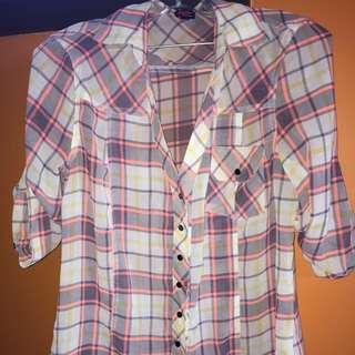Bebe Plaid Shirt