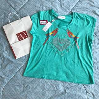 Sale!!!Brand New and Original Bayo Blue-Green T-shirt WITH Tag and Paper Bag