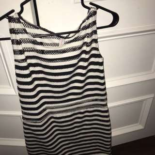 Women's black and white striped dress
