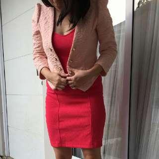 Forever 21 Dress / Terusan / Quilted Blazer Jacket / Jaket