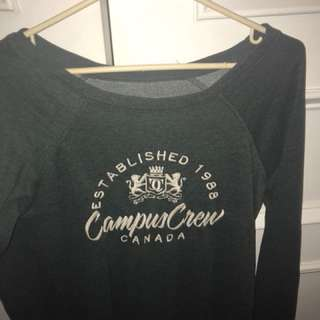 Women's Forest Green Campus Crew Sweater