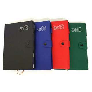 2018 Dairy Personal Planner Organizer With Clip Pen