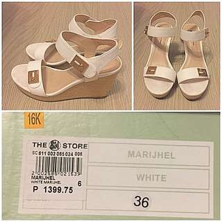 Gibi White Wedge Sandals