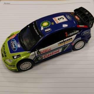 Saico WRC Castrol scale 1:32 toy car model with acrylic case. BNIB
