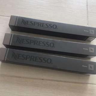 Nespresso Coffee capsules x 3